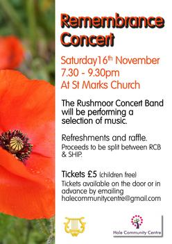 Remembrance Concert Poster