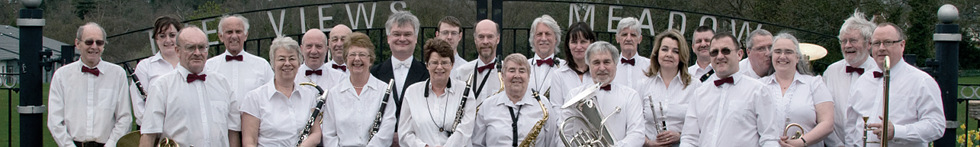 Photo of the members of Rushmoor Concert Band